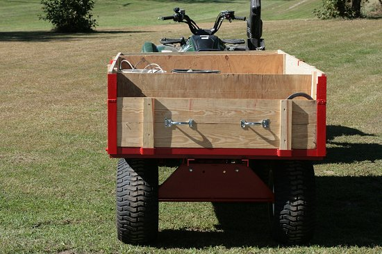 extended sides firewood trailer