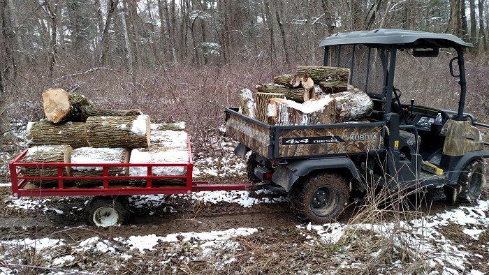 hauling firewood with ATV Trailer