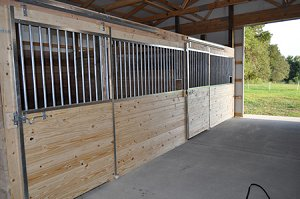 horse stall side view